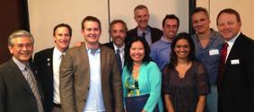 Dr. Linden with Millenium Dental students
